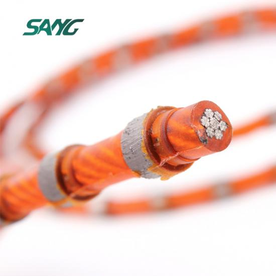 China manufacturer wire saw,diamond wire cutting rope,marble quarry diamond wire saw